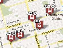 TO Transit – TTC Streetcars Live on a Map